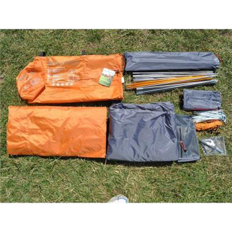Палатка для пеших походов!!! Четырехместная оранжевая палатка!! - Фото 5