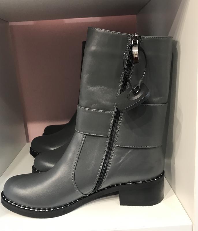 Стильнючі шкіряні черевички з пряжкою, зима, шкіра, 37, 38 роз... - Фото 4