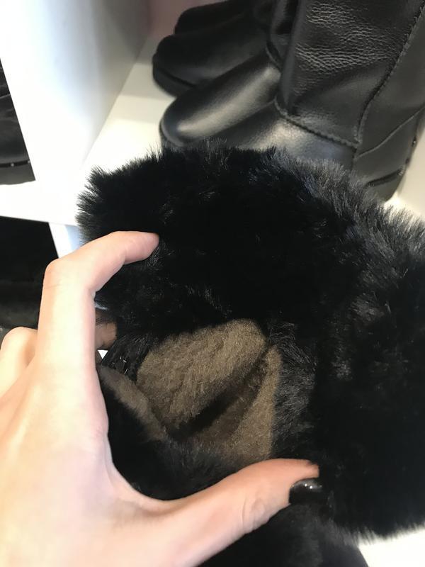Стильнючі зимові чобітки на високій підошві, шкіра, 39 - Фото 5