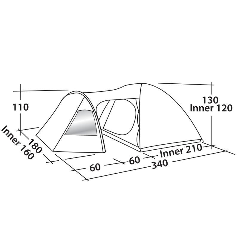 Палатка кемпинговая трехместная Easy Camp Corona 300 - Фото 3