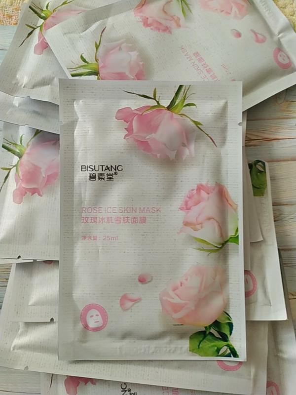 Тканевые маски с экстрактом растительного происхождения 🌹