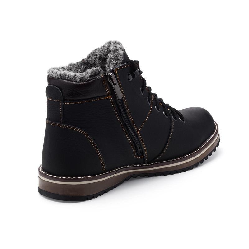 Мужские зимние ботинки(чоловічі черевики)из натуральной кожи - Фото 2