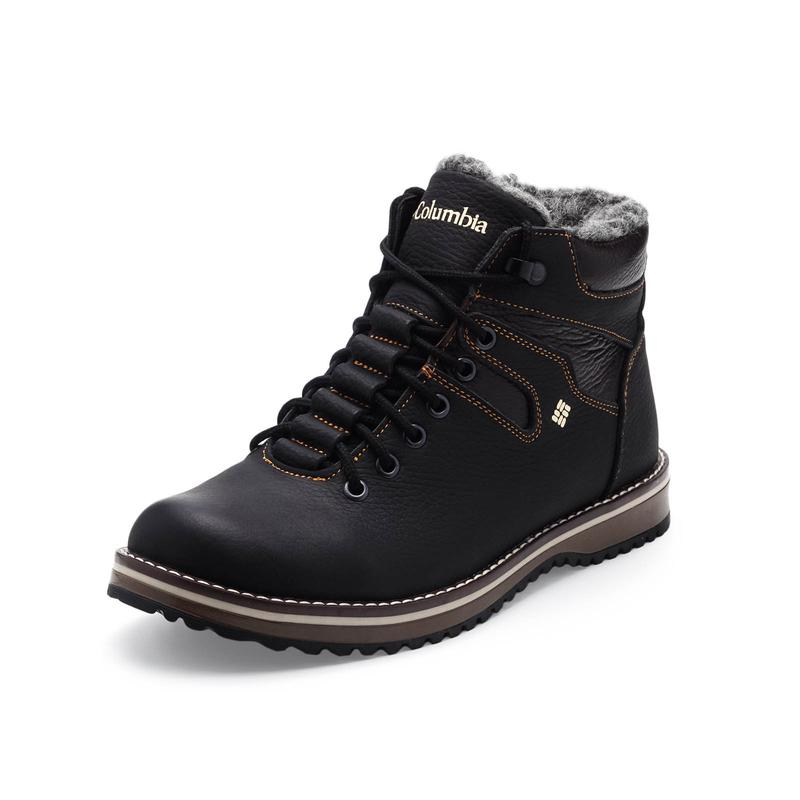 Мужские зимние ботинки(чоловічі черевики)из натуральной кожи