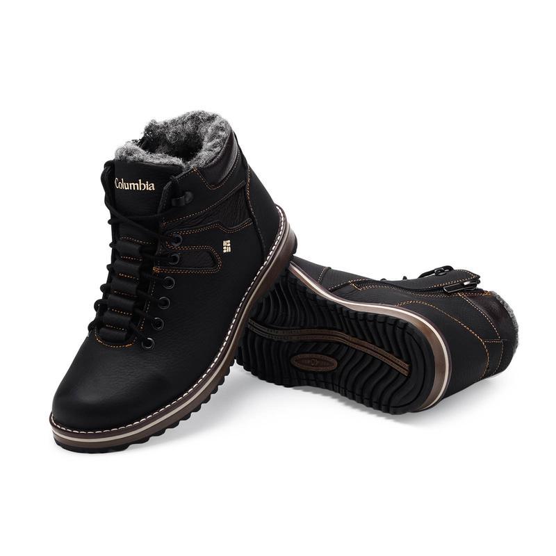Мужские зимние ботинки(чоловічі черевики)из натуральной кожи - Фото 3