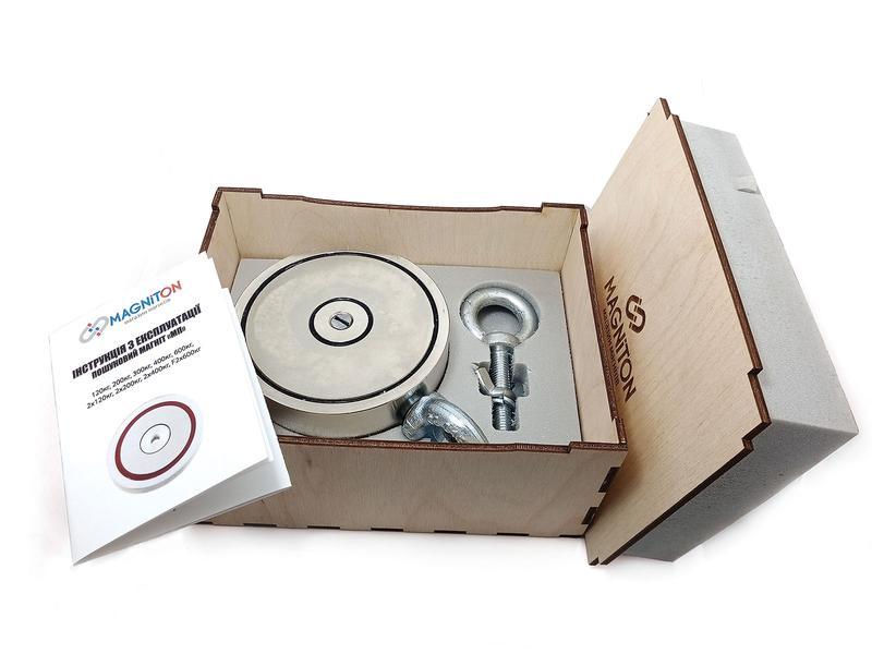 Двухсторонний поисковый магнит МП 2х400 кг - Фото 3