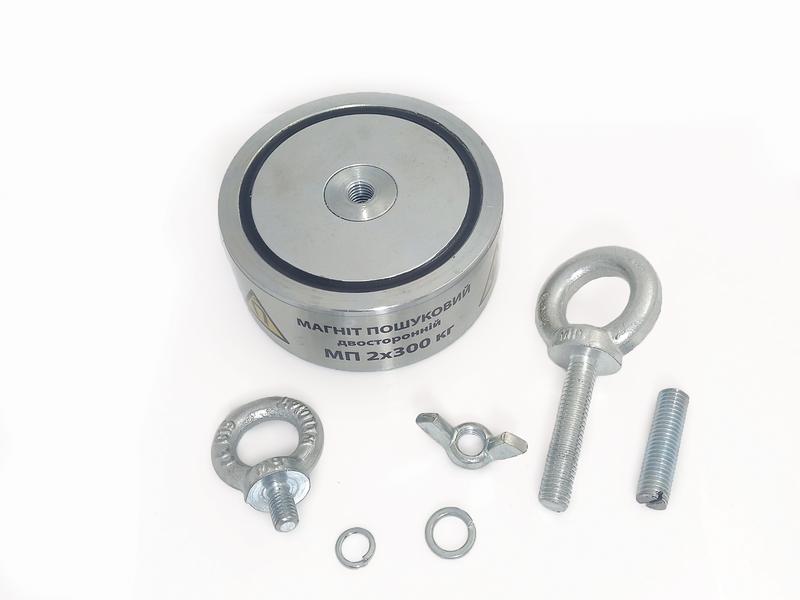 Двухсторонний поисковый магнит МП 2х300 кг - Фото 2