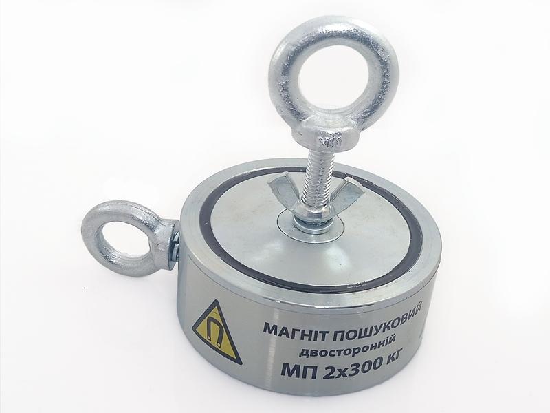 Двухсторонний поисковый магнит МП 2х300 кг - Фото 4