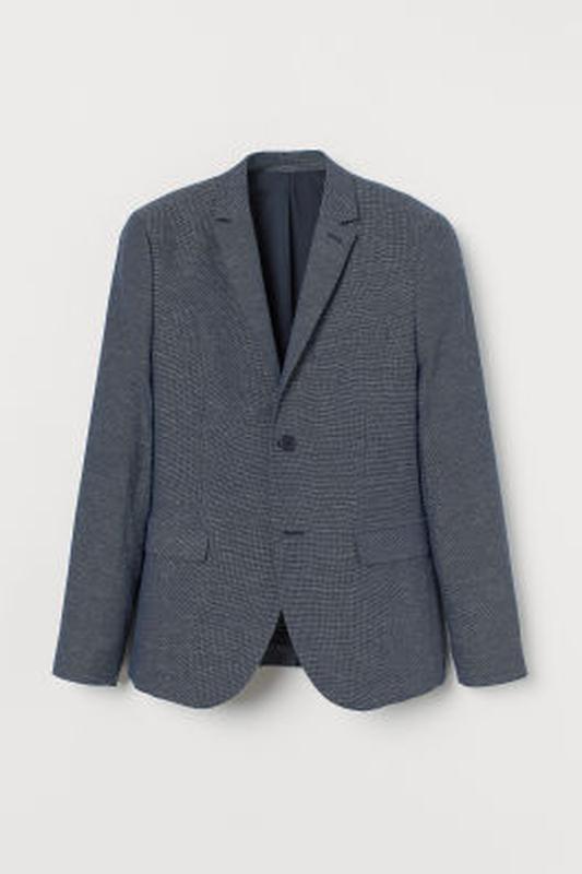 Однобортный хлопковый пиджак h&m , slim fit !