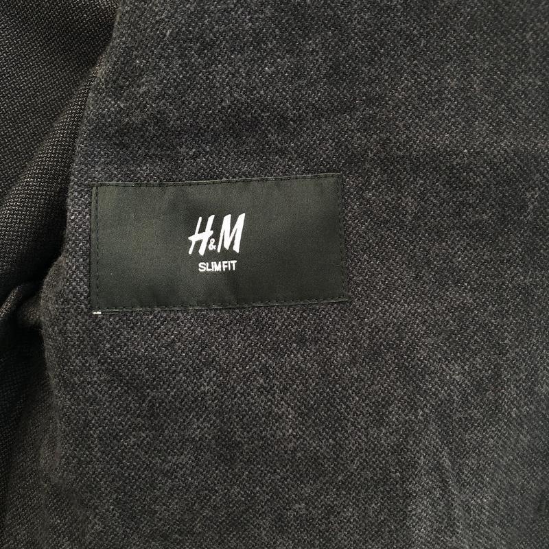 Однобортный хлопковый пиджак h&m , slim fit ! - Фото 4