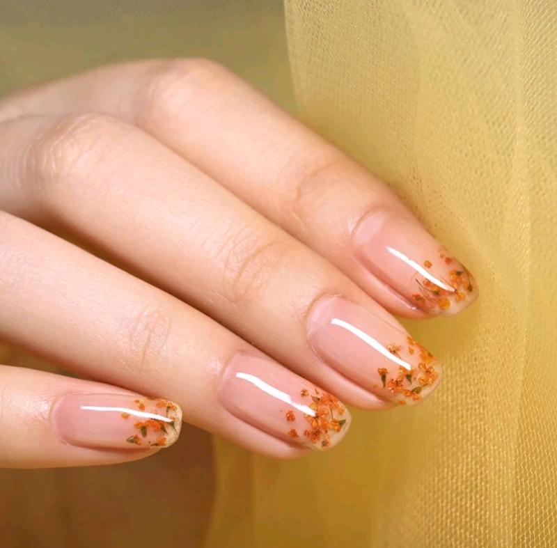 Гель лак для ногтей с сухоцветами born pretty 6мл №8 - Фото 3
