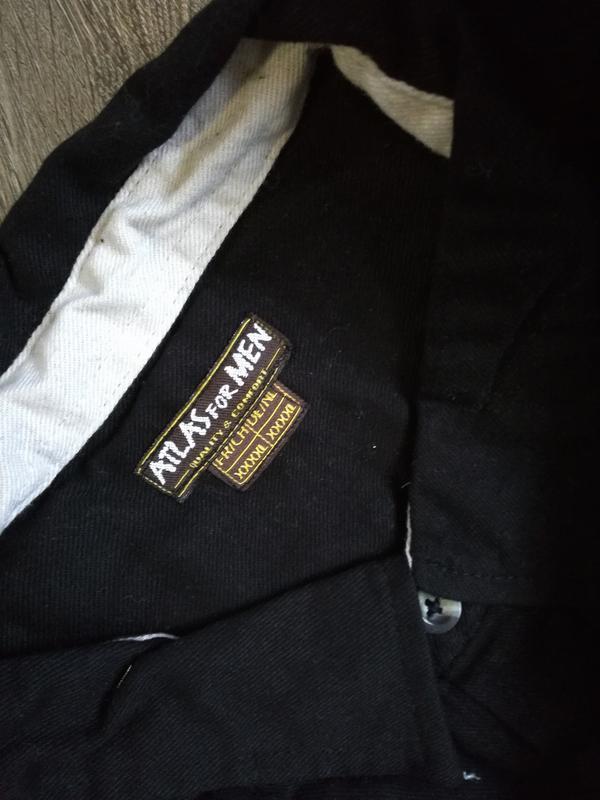 Теплая рубашка фланель р. 4xl atlas for men франция черный - Фото 3