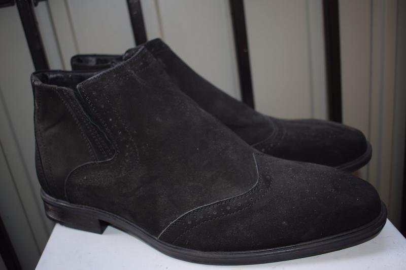Кожаные зимние ботинки челси оксфорды
