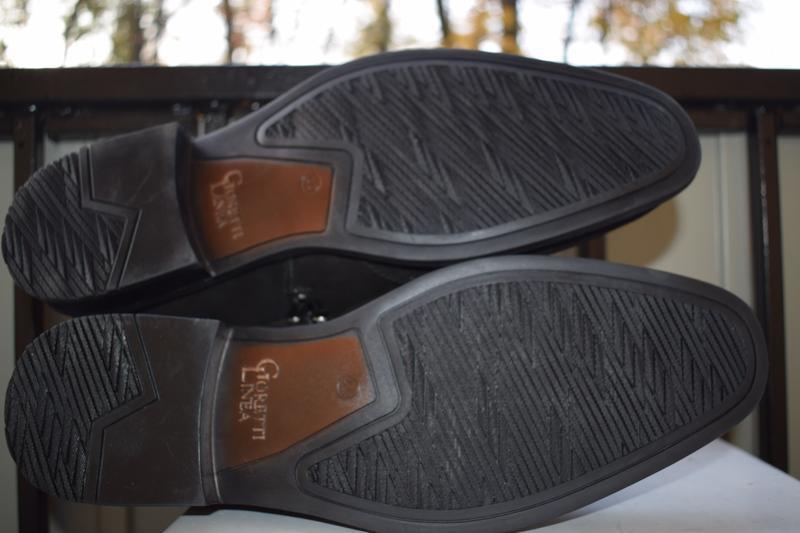 Кожаные зимние ботинки челси оксфорды - Фото 3