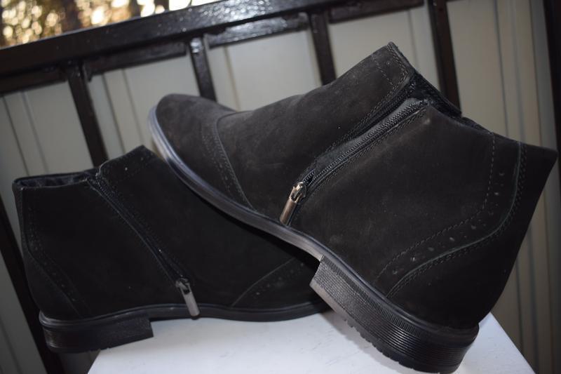 Кожаные зимние ботинки челси оксфорды - Фото 5
