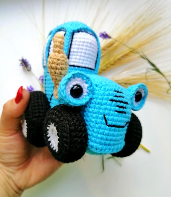 Синий трактор, трактор, мягкая игрушка, игрушки