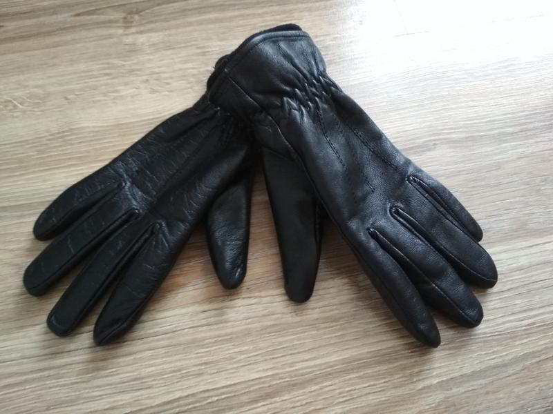 Перчатки кожаные с утеплителем