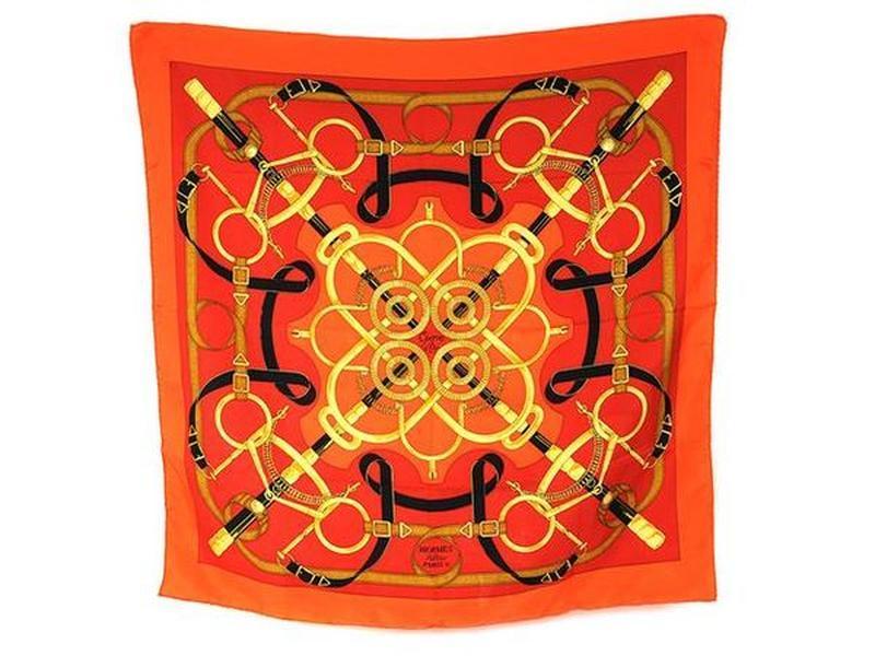 Hermes eperon d'or очень красивый шелковый платок каре эрмес, ...
