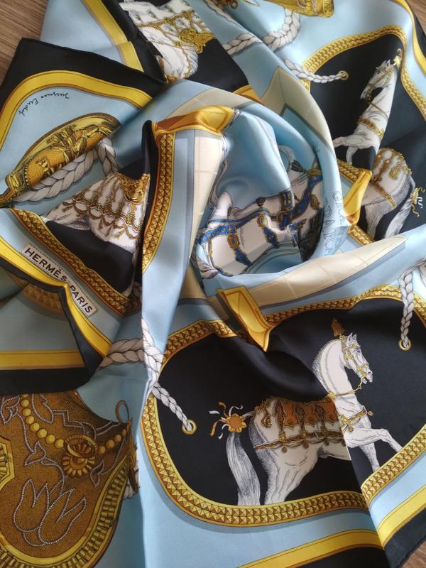 Великолепный платок hermes grand apparat,100% оригинал