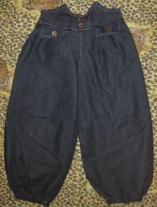 Штаны бриджи джинсовые