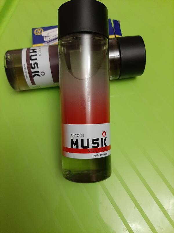Одеколон туалетная вода avon musk vulcain 200 ml.