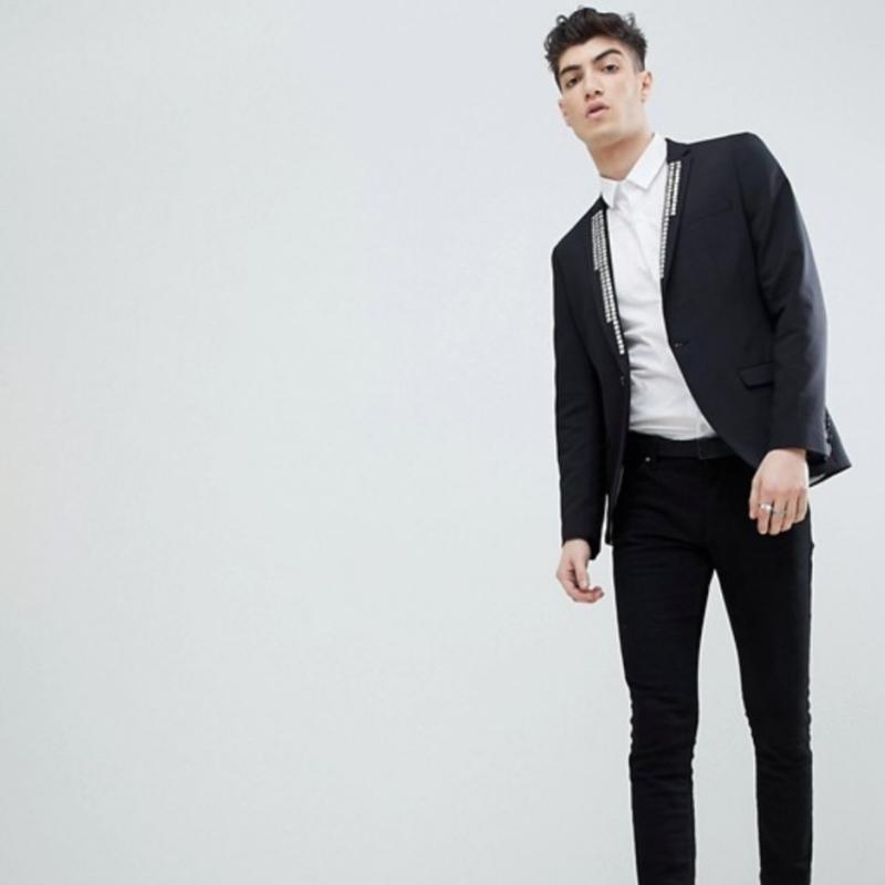 👑👑👑шикарный мужской  блейзер пиджак хл - Фото 4