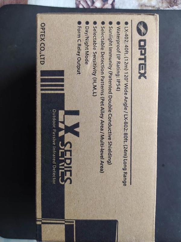 Уличный пассивный инфракрасный извещатель OPTEX LX-802N(датчик... - Фото 2