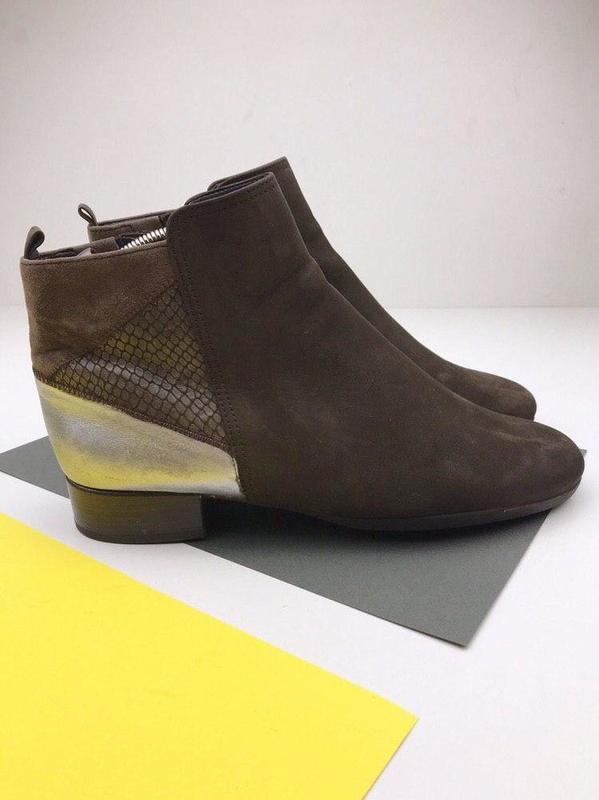 Кожаные демисезонные ботинки gabor - Фото 3