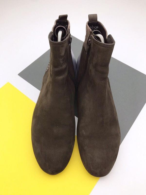 Кожаные демисезонные ботинки gabor - Фото 4