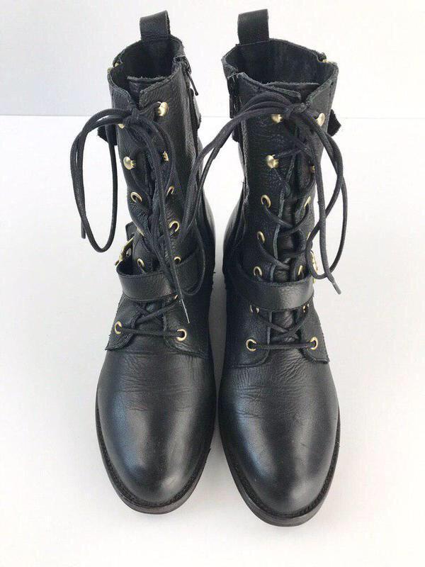 Кожаные ботинки на шнуровке aldo - Фото 3