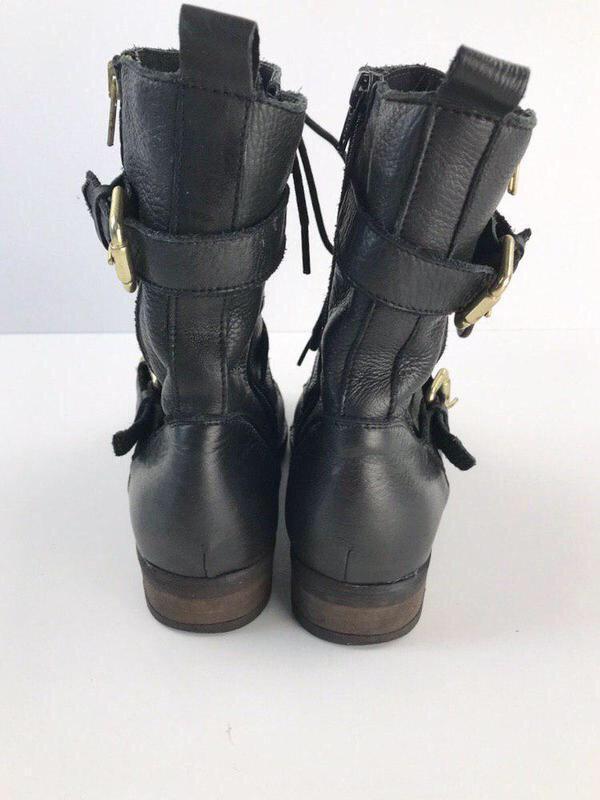 Кожаные ботинки на шнуровке aldo - Фото 4