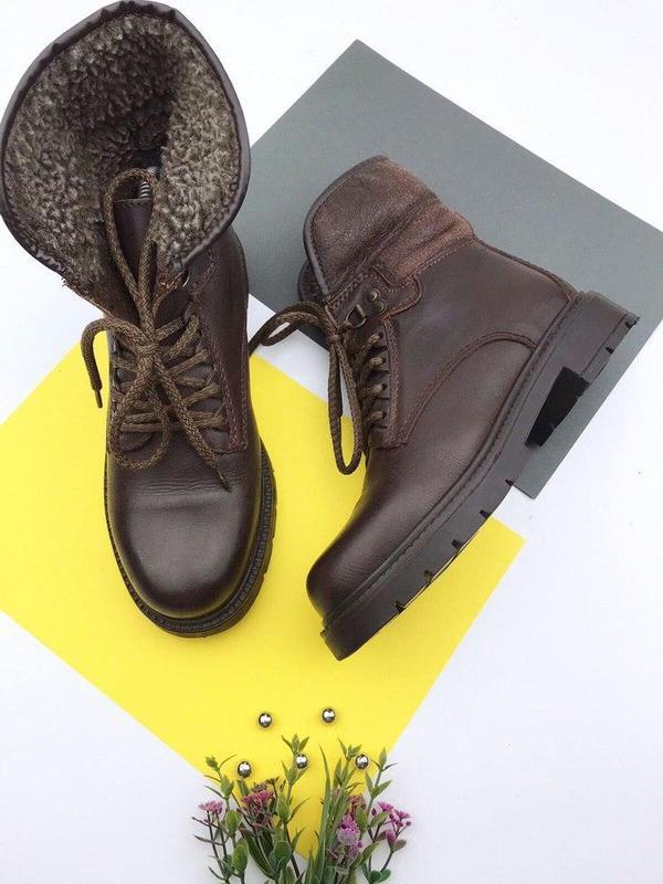 Кожаные демисезонные ботинки wendel - Фото 2