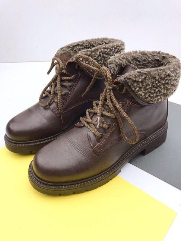 Кожаные демисезонные ботинки wendel - Фото 3