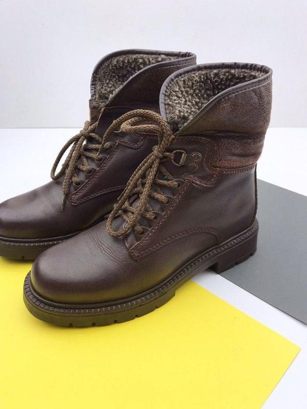 Кожаные демисезонные ботинки wendel - Фото 4