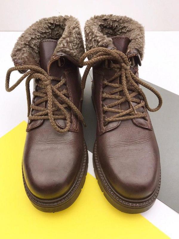 Кожаные демисезонные ботинки wendel - Фото 6
