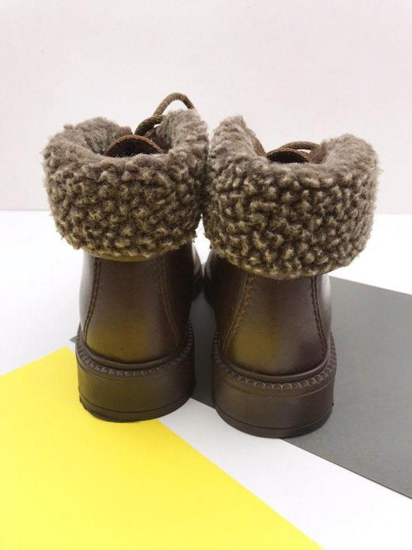 Кожаные демисезонные ботинки wendel - Фото 8