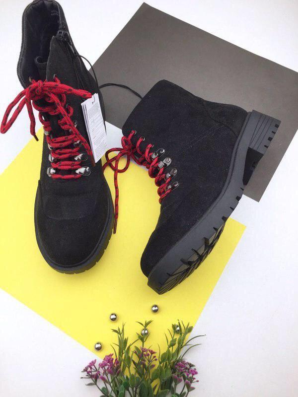 Стильные ботинки на шнуровке sinsay