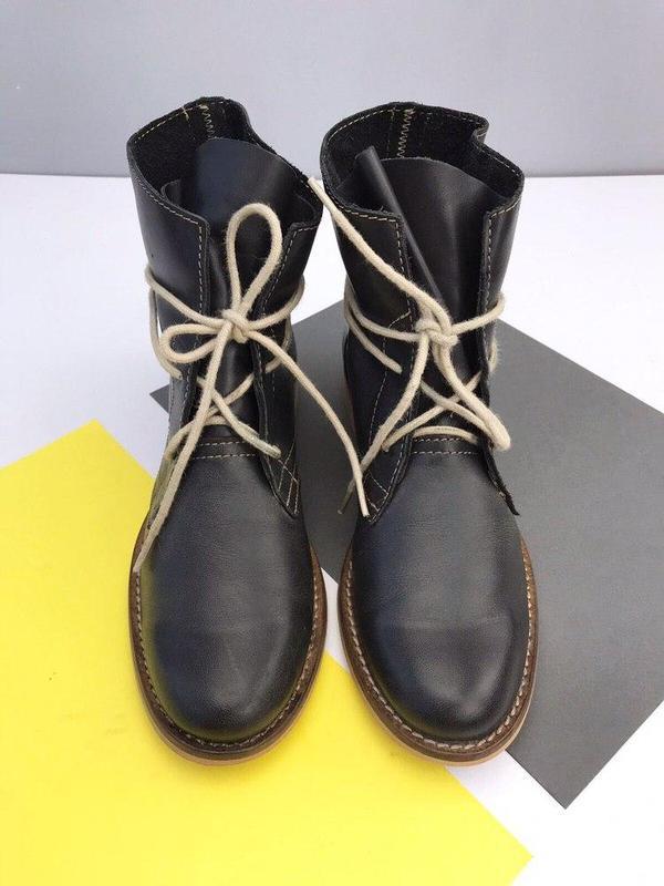 Кожаные ботинки online - Фото 2