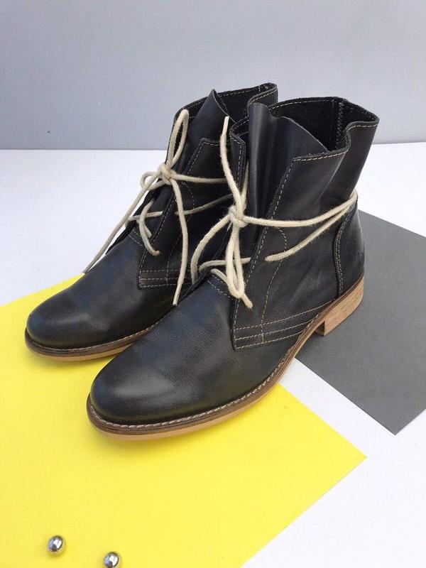Кожаные ботинки online - Фото 3