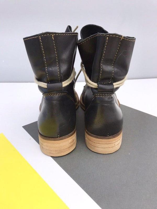Кожаные ботинки online - Фото 6