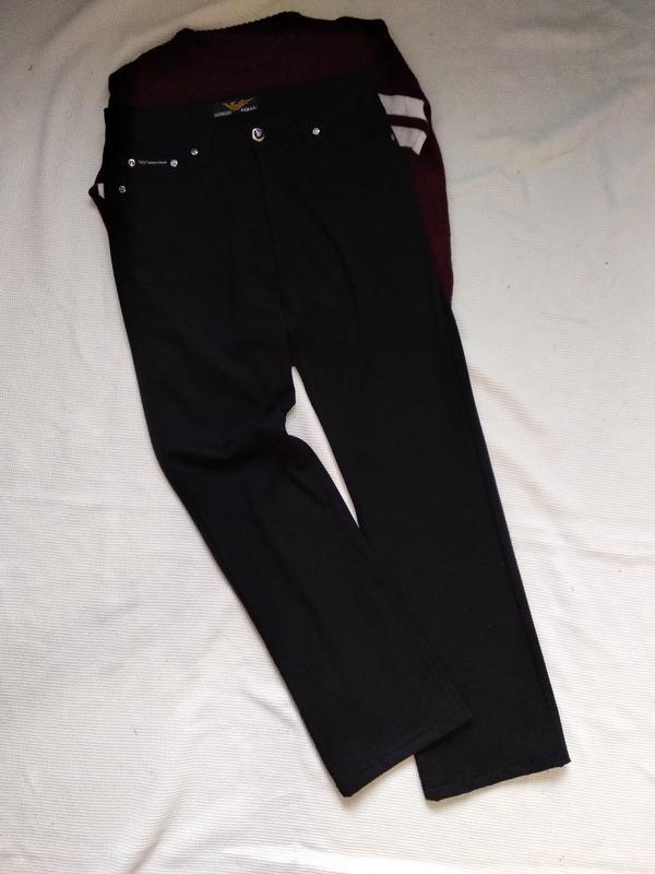 Прямые джинсы штаны брюки armani