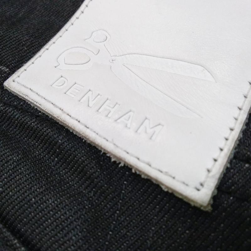 Вощеные джинсы denham grade slim vgt - Фото 4
