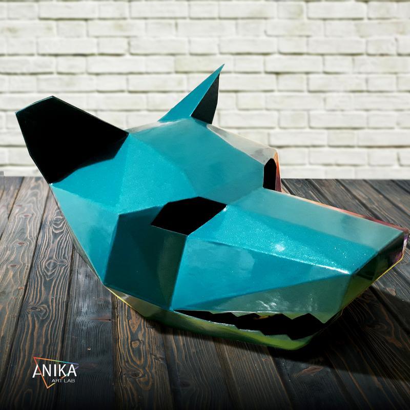 Укреплённые полигональные маски. Волк