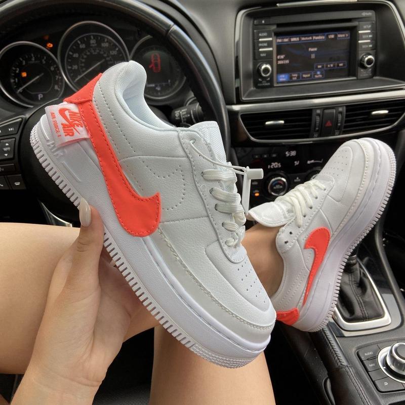 Nike air force 1 low jester white orange.
