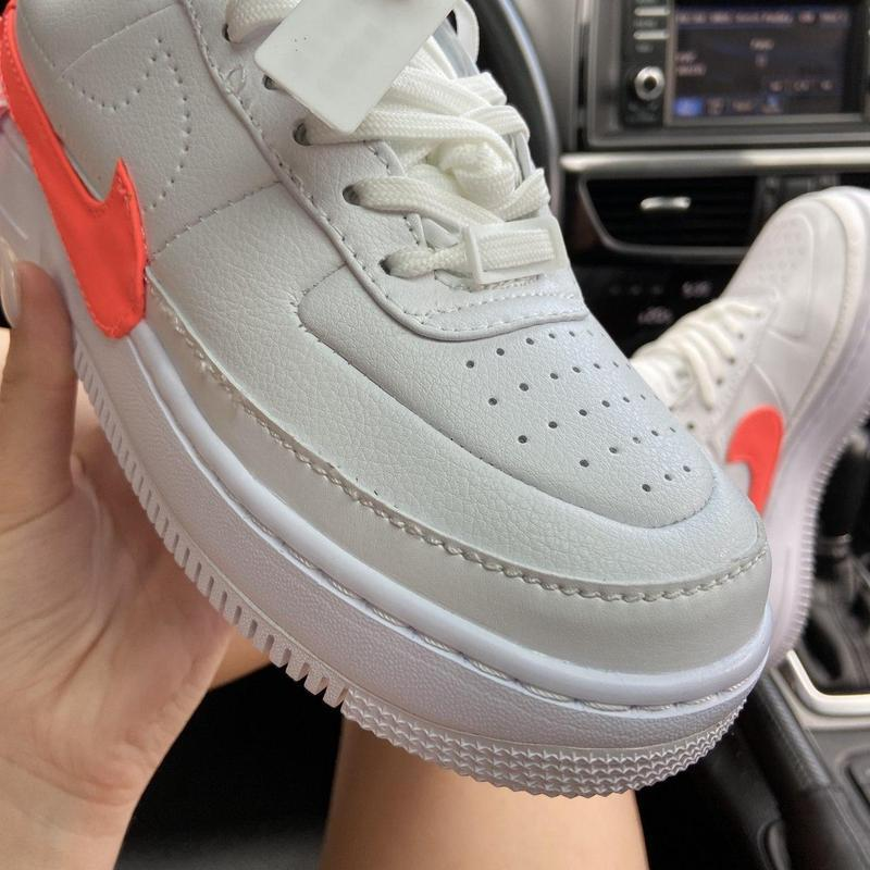 Nike air force 1 low jester white orange. - Фото 2