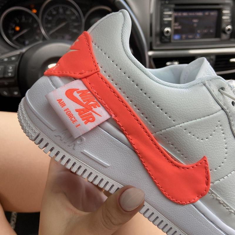 Nike air force 1 low jester white orange. - Фото 3