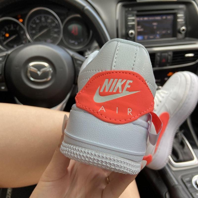 Nike air force 1 low jester white orange. - Фото 5