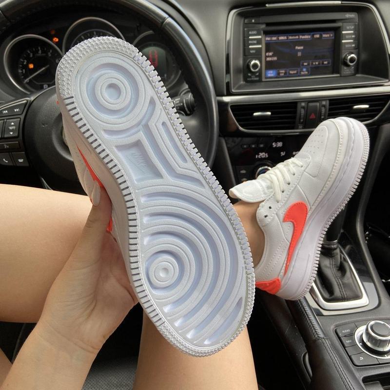 Nike air force 1 low jester white orange. - Фото 6