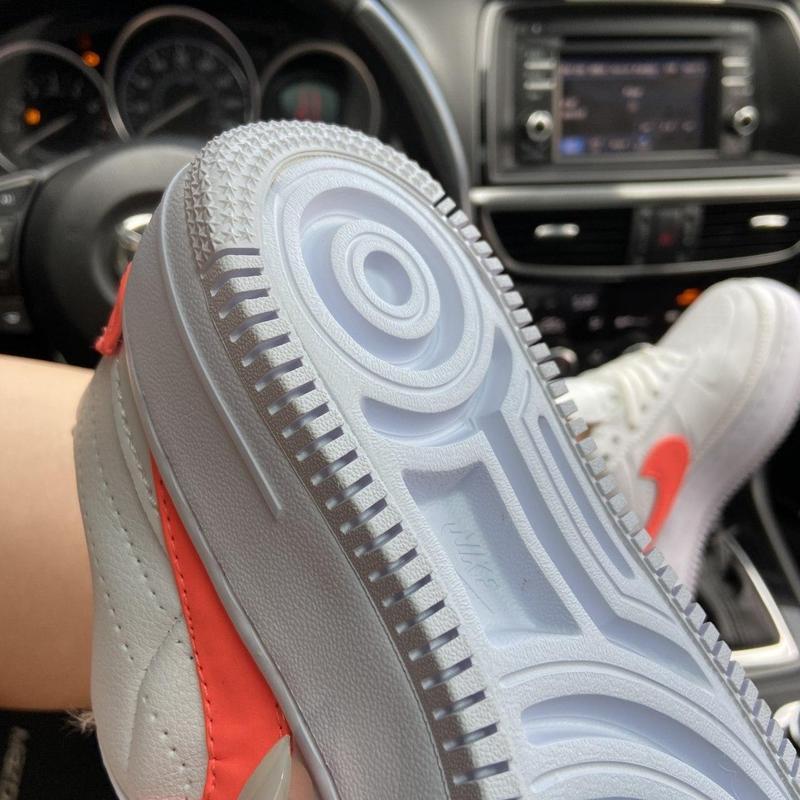 Nike air force 1 low jester white orange. - Фото 7