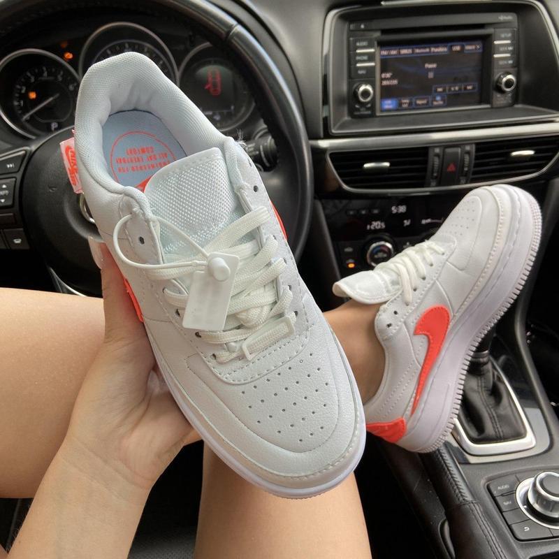 Nike air force 1 low jester white orange. - Фото 8