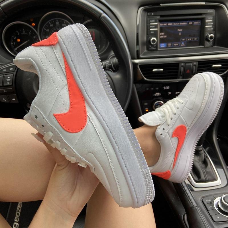 Nike air force 1 low jester white orange. - Фото 9